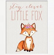 Little fox animal print