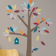 baby room tree wall stickers