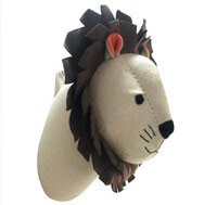 animal wall decor lion pillow