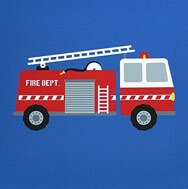 boy room fire truck painting