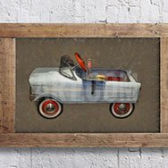 Vintage Convertible Car Painting