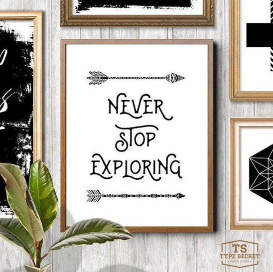 Explorer wall art for boy room decor