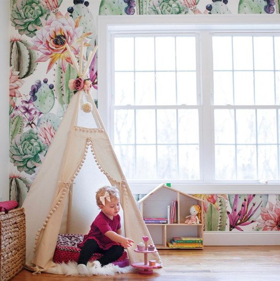 Teepee in little girl playroom