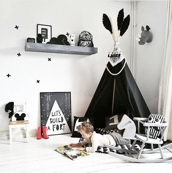 Boy teepee with feather