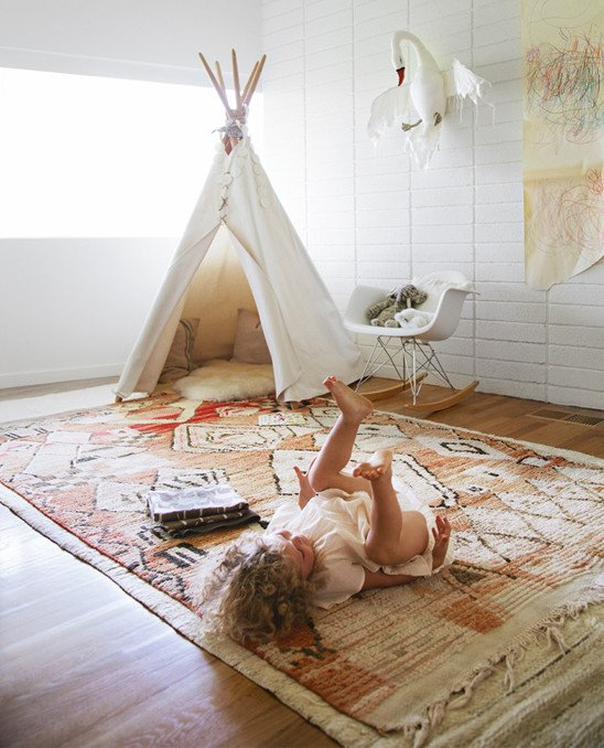 Play teepee in girl room
