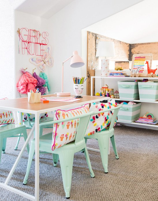 Playroom with table and chairs