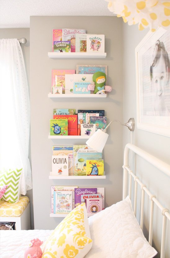 Books and bedtime stories storage
