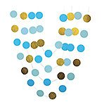 Circles glitter blue and gold paper garland