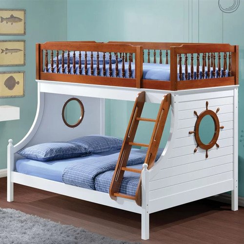 Captain Twin Over Full Bunk Bed