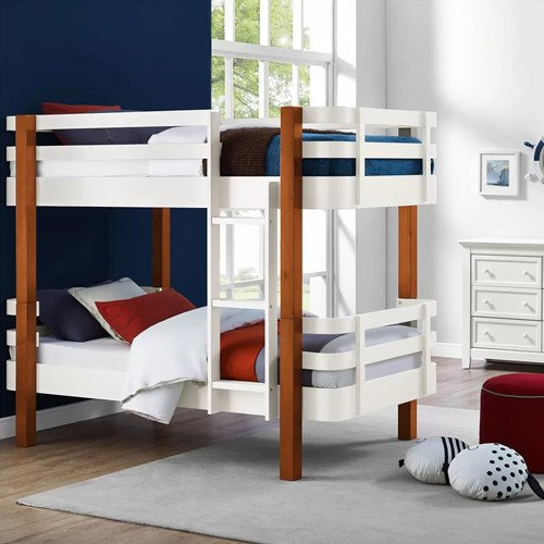 Dipasquale Rounded Corner Bunk Bed