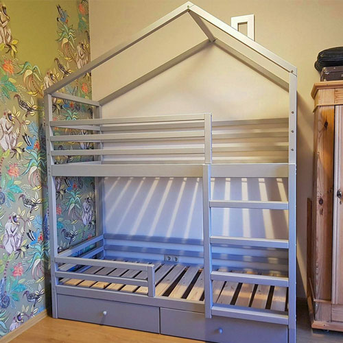Wooden Bunk House Beds