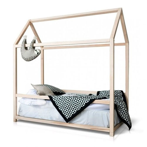 Full-size House Bed With Side Rail