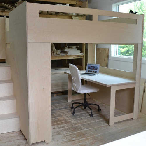 9 Kid Bunk Beds With Desk Underneath, Bed With Desk Attached