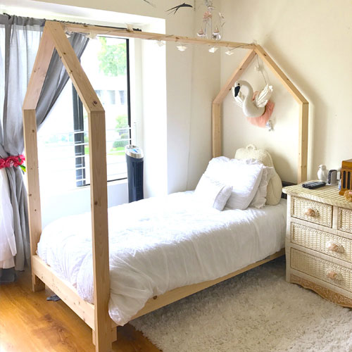Large Beam House Bed Frame